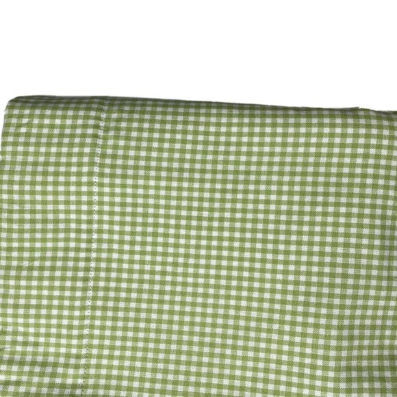 Pottery Barn Curtains Green Gingham Panels Drapes